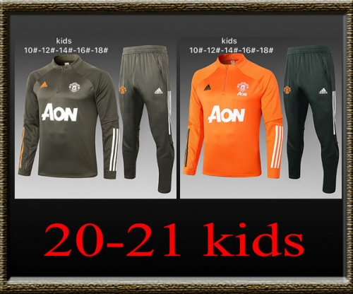 2020-2021 Manchester United Kids Training clothes