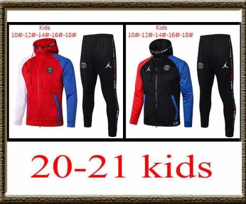 2020-2021 PSG Kids + hat jacket best quality
