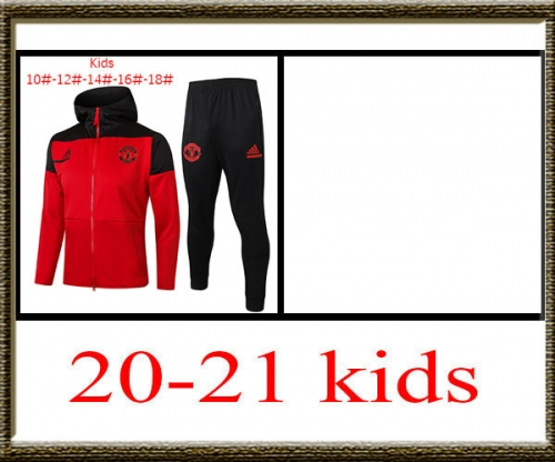 2020-2021 Manchester United Kids + hat jacket best quality