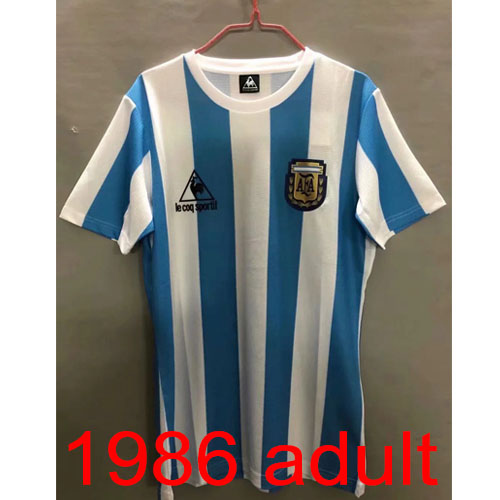1986 Argentina Home jersey Thailand the best quality
